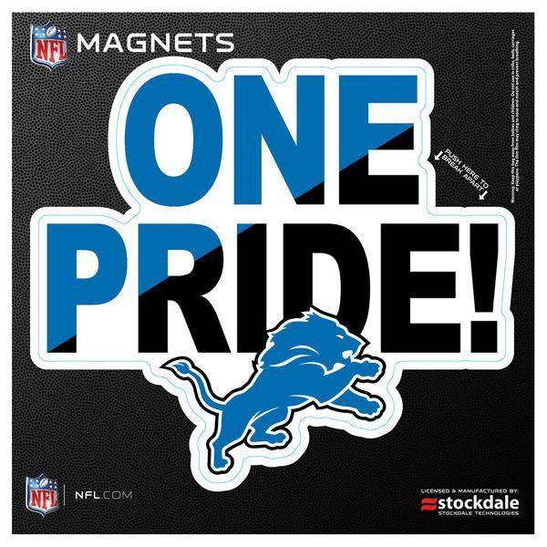 "Detroit Lions 6"" x 6"" Xpression Logo Full Color Car Magnet - $5.99"