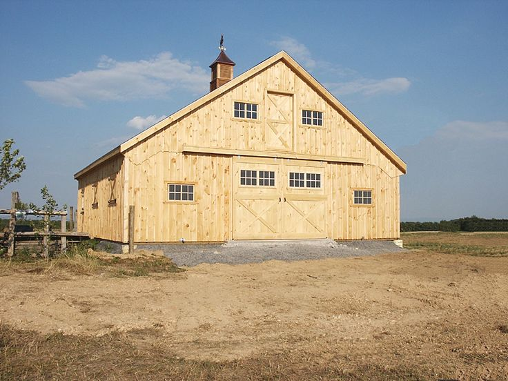 108 best barns images on pinterest backyard buildings for Plans for horse stables