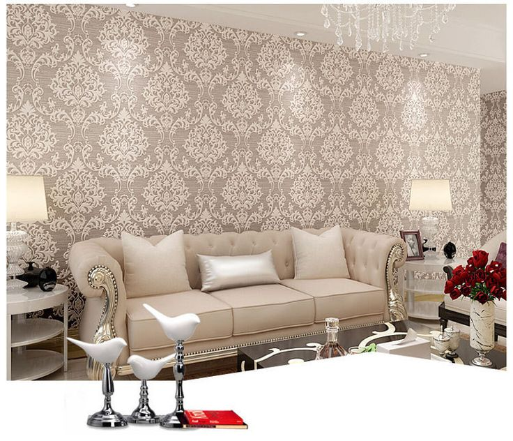 papel parede- Luxury Europe Damascus 3D Stereo Embossed Wallpaper Home Decor Ecofriendly Bedroom Wallpapers Non-woven Mural Wall