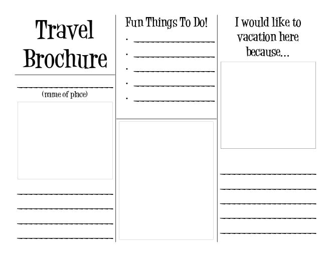 Travel brochure template reading pinterest around for Brochure templates for school project