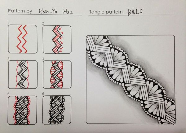 Bald zentangle | Zentangle | Pinterest