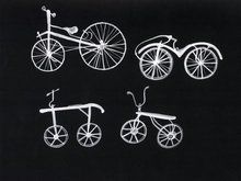 Black and white bikes