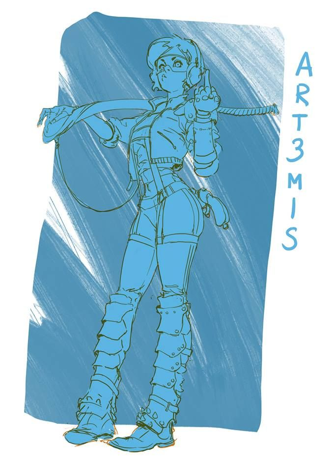 Since he got me to read Ready PLayer One (excellent book by the way, get reading!), this one is for you Espen!  Art3mis grin emoticon  First one of what I am aiming to be a daily sketch thing for this year  DAY 1!