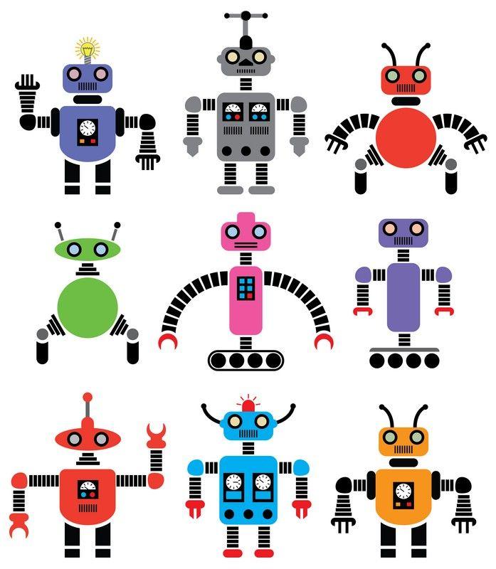 Fotobehang: Robots Patroon 2