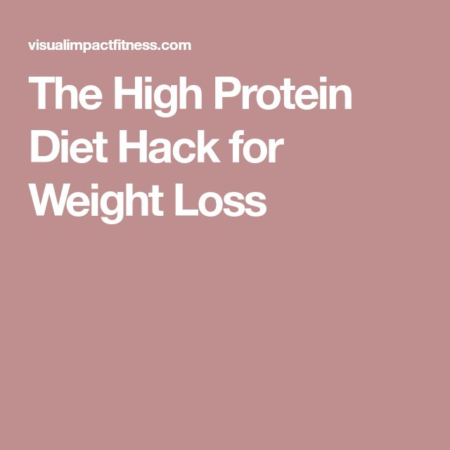 The High Protein Diet Hack for Weight Loss