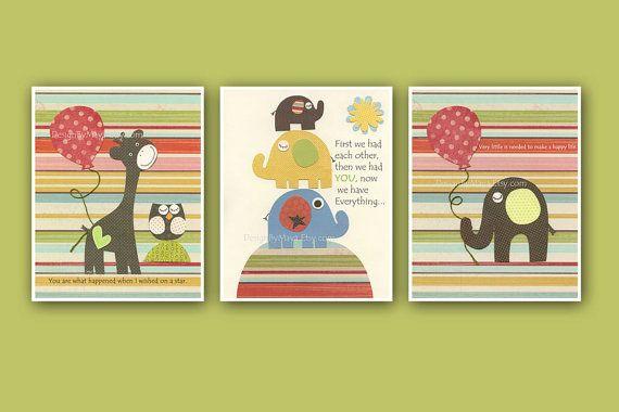 Nursery Art Baby Room Decor kids room Owl baby by DesignByMaya
