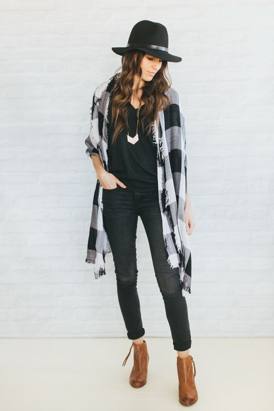 Scarves - convenient way to incorporate trendy patterns or colors.