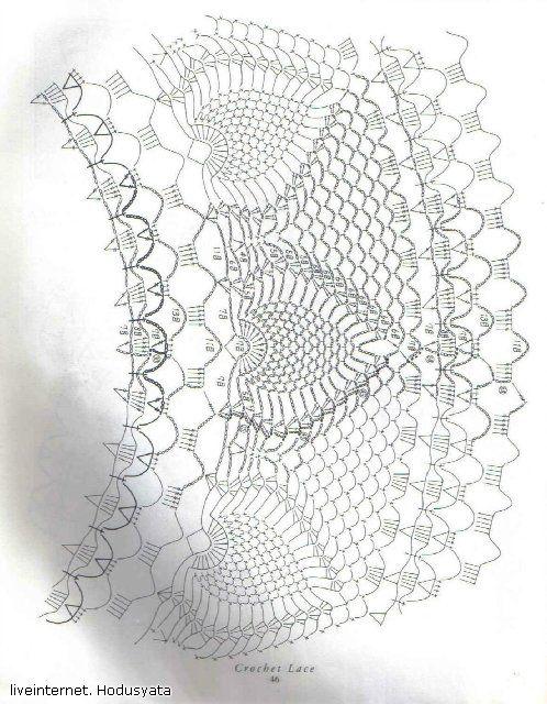 Схема салфетки крючком для сайта *Модное вязание* - http://modnoevyazanie.ru.com/