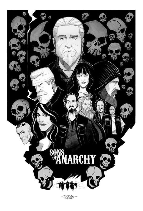 Sons of Anarchy - poster - Thobias Daneluz