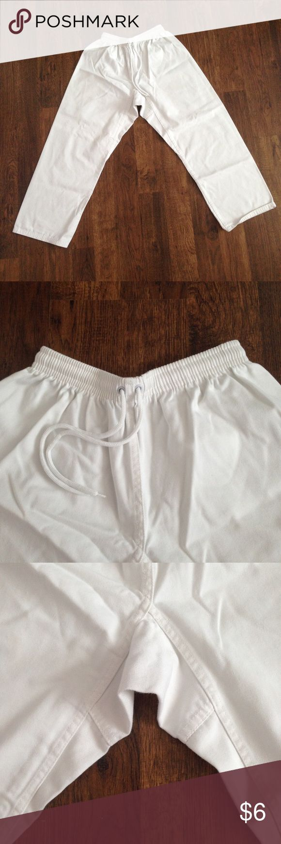 Karate pants Karate pants. No flaws and still in great condition. Drawstring to tighten. PRICE IS FIRM. Pants Wide Leg