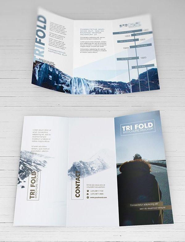 Free PSD Mockups - Trifold Brochure