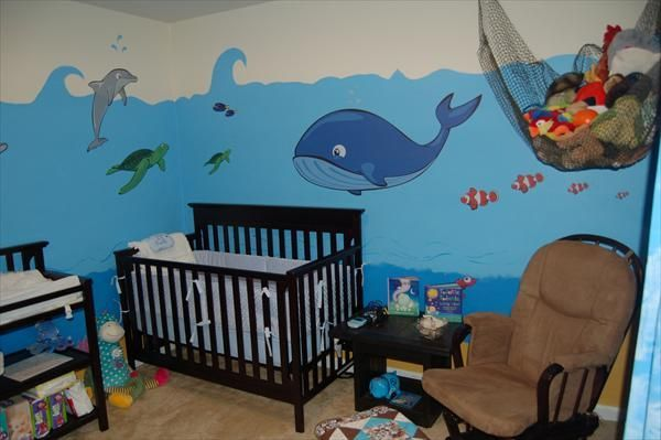 22 best images about under the sea nursery on pinterest for Under the sea bedroom designs