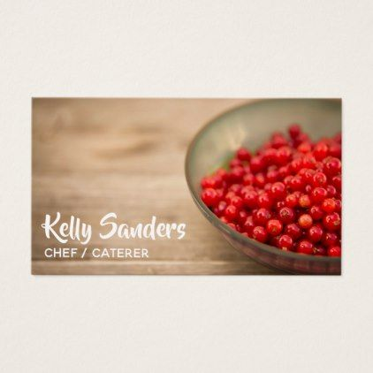 #chef - #Currant Berries Chef Caterer & Restaurateur Business Card
