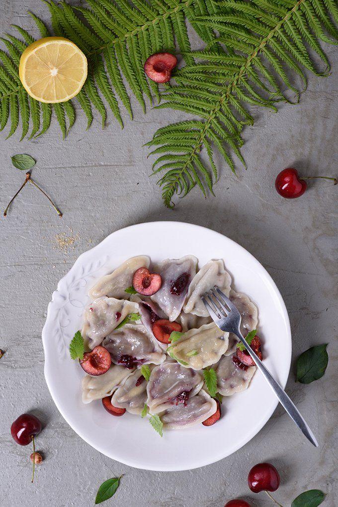 Cherry dumplings by Iuliia Leonova on @creativemarket