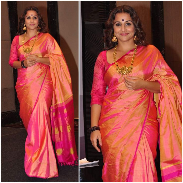 Yay or Nay : Vidya Balan goes traditional in a Kanjeevaram saree