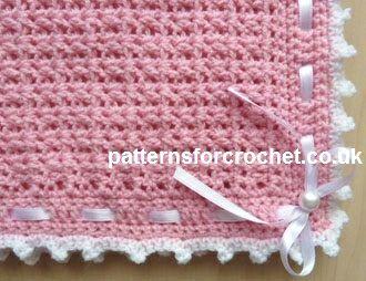 Free baby crochet patterns Pram Cover/Blanket USA