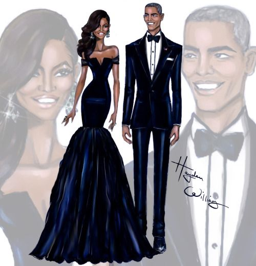 First Lady Michelle Obama & President Barack Obama at the China State Dinner by Hayden Williams