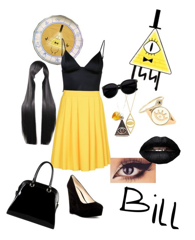 """""""Bill from gravity falls"""" by xdream-bigx on Polyvore featuring T By Alexander Wang, 8, Nine West, Jennifer Zeuner, Lee Renee, Sydney Evan and Diophy"""