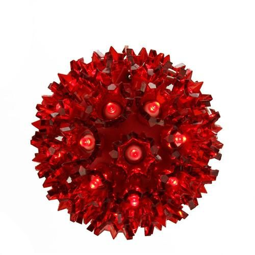"""5"""""""" Red LED Lighted Hanging Starlight Sphere Ball Christmas Decoration"""