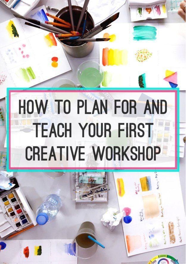 Planen und Lehren eines kreativen Workshops #artsandcraftworkshops