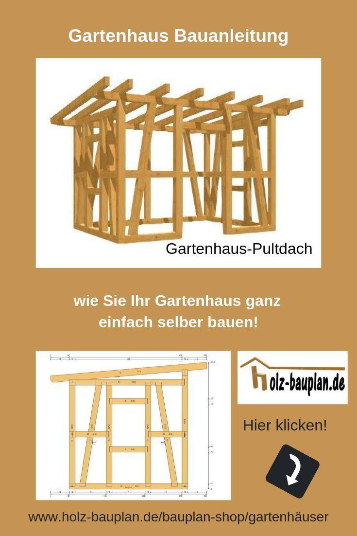 PultdachGartenhaus Bauanleitung als EBook Gartenhütte