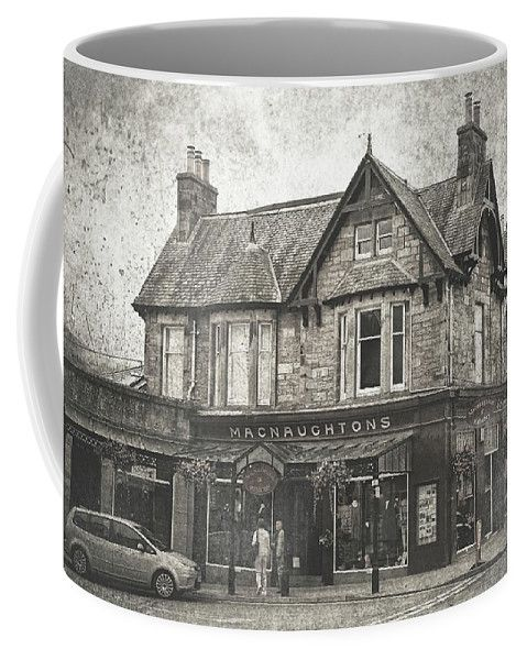 Jenny Rainbow Fine Art Photography Coffee Mug featuring the photograph Macnaughtons Of Pitlochry. Perthshire. Vintage by Jenny Rainbow