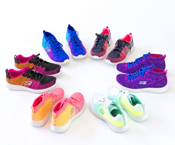 We rounded up some of our favorite styles of Skechers Burst - shop the bright and bold colors on our site. http://bit.ly/1VlGf0