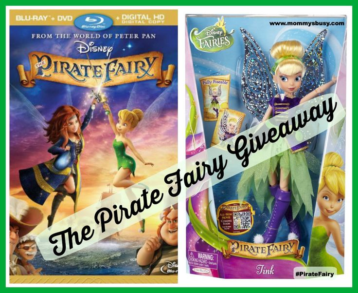 Win the Pirate Fairy Blu-ray/DVD combo & a Tinkerbell Deluxe Fashion Doll! (Ends 4/21/14) #PirateFairy