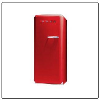 ROT smeg Standkühlschrank mit Gefrierfach, FAB28LR1 rot Linksanschlag A++