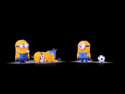 ▶ Minions playing soccer - YouTube