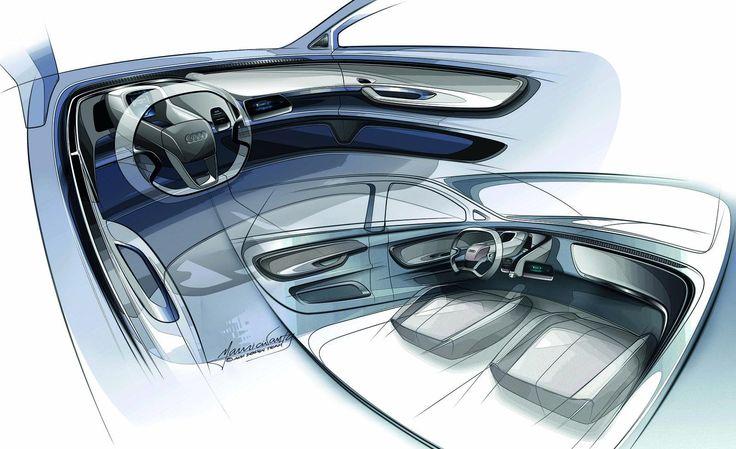 audi a2 ev concept sketches 8 car interior _rendering pinterest audi a2 sketches and interior sketch