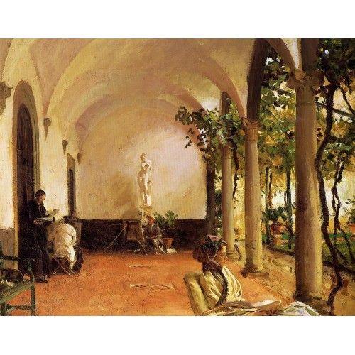 John Singer Sargent - Villa Torre Galli the loggia