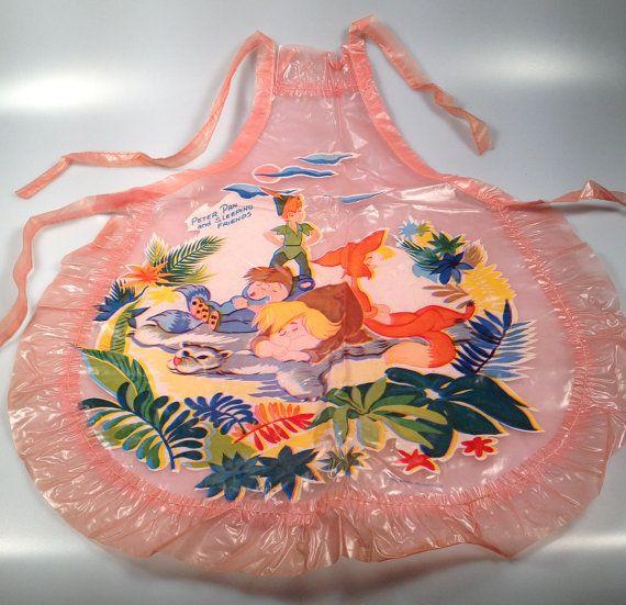 RARE Vintage PETER Pan Child's Apron Walt by rememberwhenemporium, sold