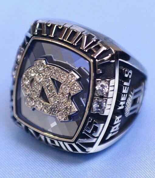 North Carolina lacrosse National Championship rings.