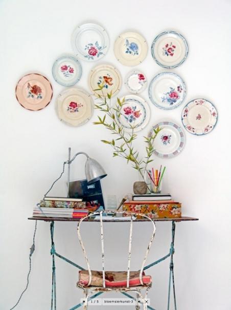 Los platos no est n en la mesa decora con platos - Platos decorativos pared ...