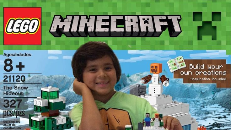 LEGO MINECRAFT 21120 O BONECO DE NEVE - Video Infantil - Joey  and Zoey ...