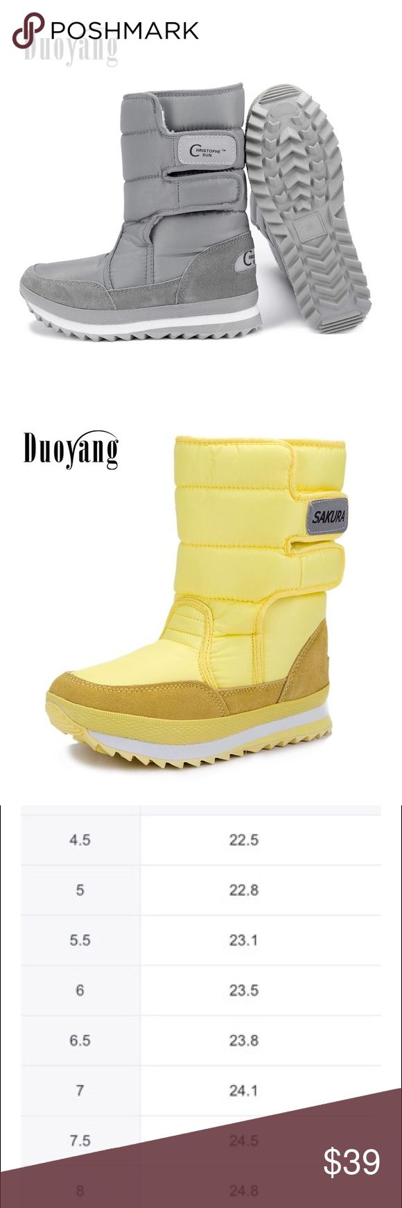 Ladies winter boots colorful snow boots 2017 Women boots 2017 fashion new arrivals warm Ladies winter boots colorful snow boots.  Colors available are yellow, red, black, blue, purple, orange, khaki, grey, rose red Shoes Winter & Rain Boots