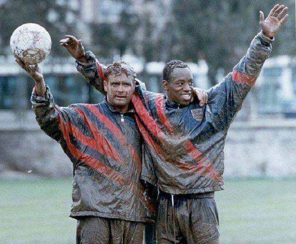 Paul Gascoigne and Ian Wright, 1996.