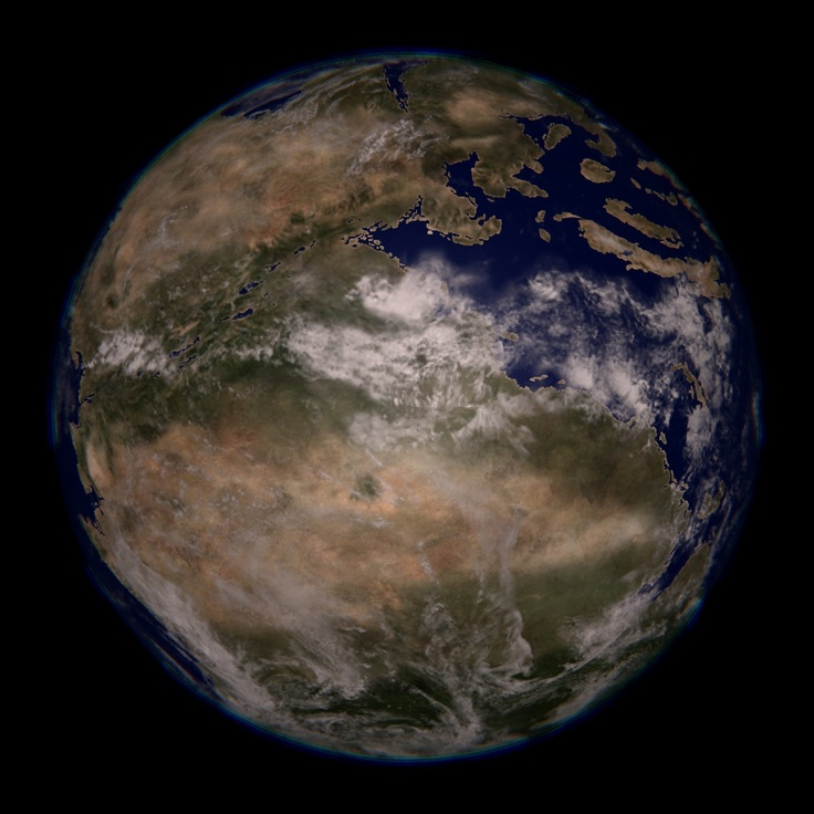 Earth, 220 million years ago - Pangea simulation of what ...