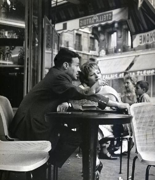 Photograph of couple in cafe by Robert Doisneau, Paris | Parlez ...