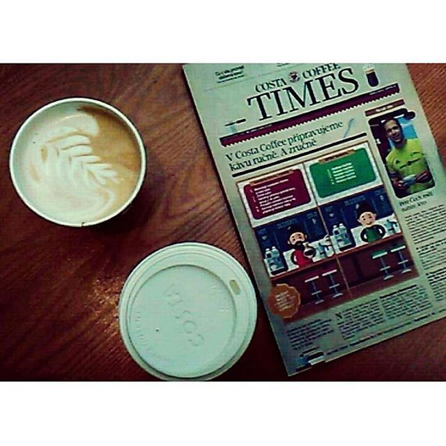 All you need is coffee. ❤✨ #costa #costacoffee #times #coffee #wood #morning #love #read #costacoffeetimes