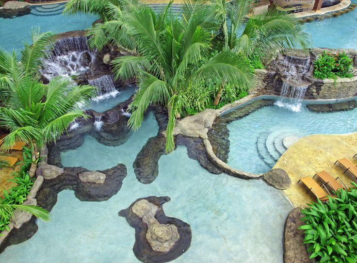 Waterfall inspired pool in Costa Rica.