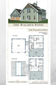 Wow! At just 1467 sq ft, this 3 bedroom, 2 bath small barn house packs a whole lot of punch. Energy efficient and able to fit on a postage stamp size lot, too. Visit for more, including downloadable floor plans. #smallhouseplans