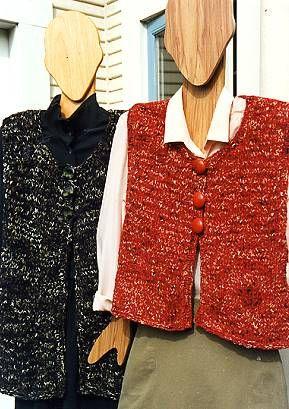 Cotton Chenille & Waikiki A-Line Vests - free knit vest pattern - Crystal Palace Yarns