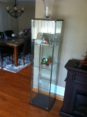 Customer Image Gallery For Modern Contemporary Glass Curio Cabinet With  Cappuccino Top And Bottom | I Waaant This | Glass Curio Cabinets, Cabinet,  ...