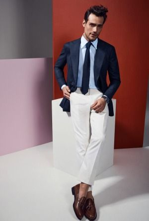 Stakes Day Custom jacket: from $1900, custom trousers: from $400, shirt: $225, knitted ti: $150, all from P. ...