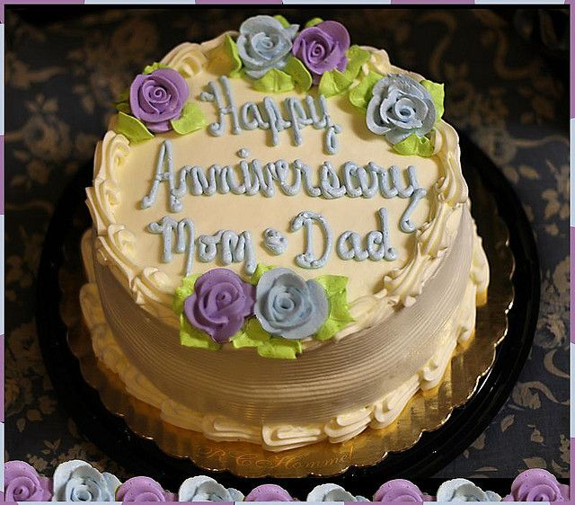 Happy Anniversary Mom And Dad Cake Moms And Dads Pinterest