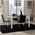 Martina 5-Piece Modern Glass Top Extension Table Set with 4 Black Chairs by Ashley Furniture - Beck's Furniture - Dining 5 Piece Set Sacramento, Rancho Cordova, Roseville, California