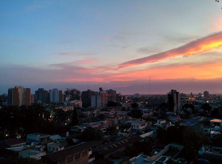 Atardecer en San Miguel de Tucumán