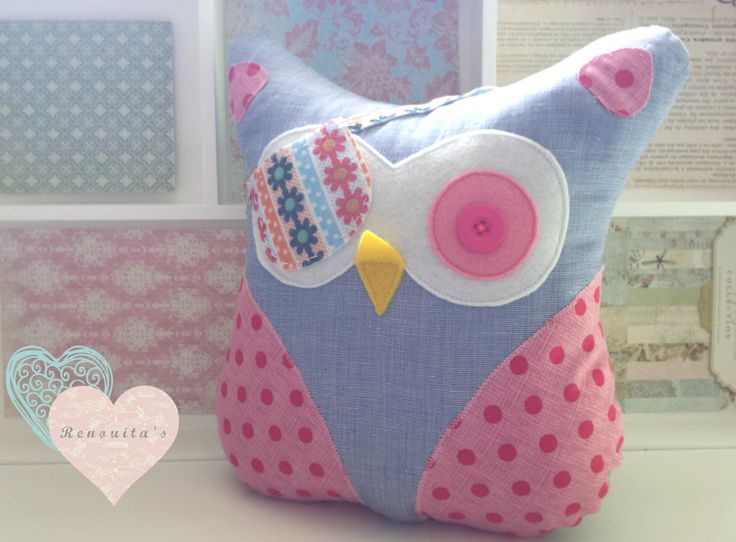 Pirate stuffed 0wl kid's room decor - baby pillow - stuffed owl toy - stuffed owl pillow - stuffed cushion - nursery decor by Renouitas on Etsy